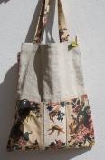 bolsa em linho e tecido português