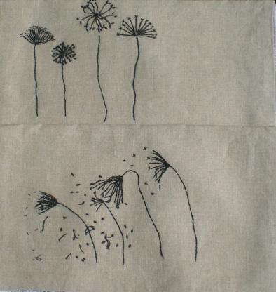 dandelions 2 napkin bags