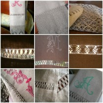 embroidered linen towels