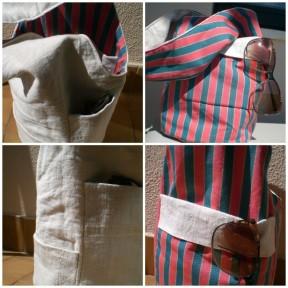 sacos redondos reversíveis linho e algodão