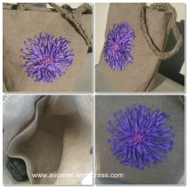 SRE flower in a linen bag