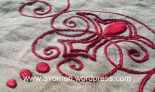 Ponto cheio liso / Plain satin stitch