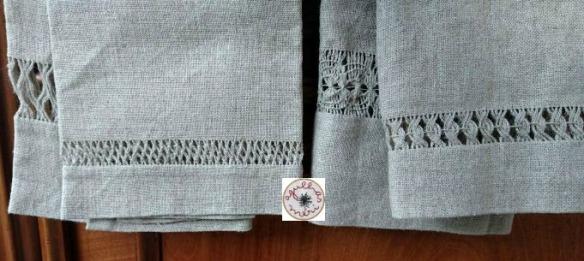 6 Toalhas de linho I e T outra ponta da toalha