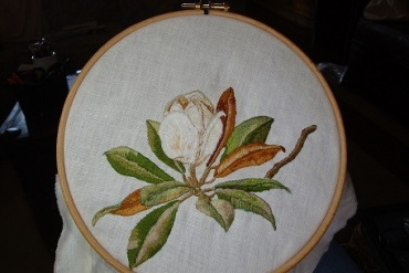 6 - Trish Burr's magnolia stitch along July 2018